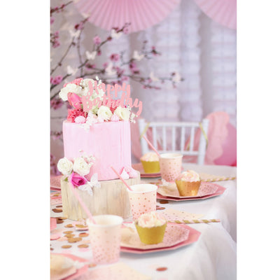 Pink and Peach Cocktail Napkin - Pack of 20 - Illume Partyware