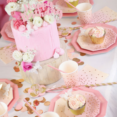 Pink Foil Large Plate - Pack of 10 - Illume Partyware