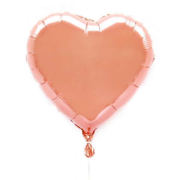 "Rose Gold 18"" Foil Heart Balloon - Illume Partyware"