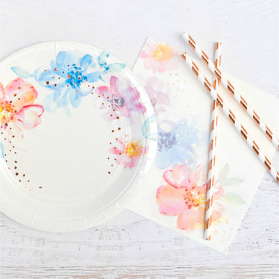 Floral Luncheon Napkin - Pack of 20 - Illume Partyware