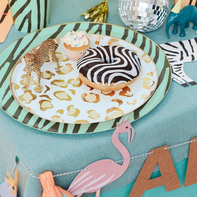 Safari Animal Print Side Plates - Pack of 8 - Meri Meri