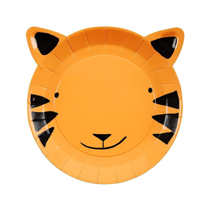 """Go Wild"" Tiger Plates (small) - Pack of 12 - Meri Meri"