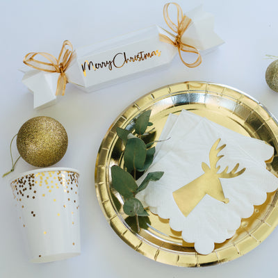 Gold Foil Large Plate - Pack of 10 - Illume Partyware