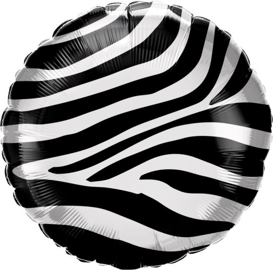 Zebra Stripes Foil Balloon