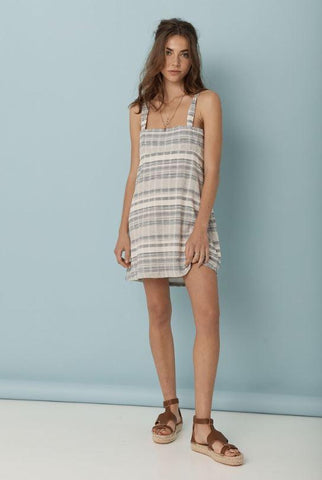 Mademoiselle Summer Dress // Blue Gingham Texture