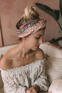 Peachy Floral Headwrap