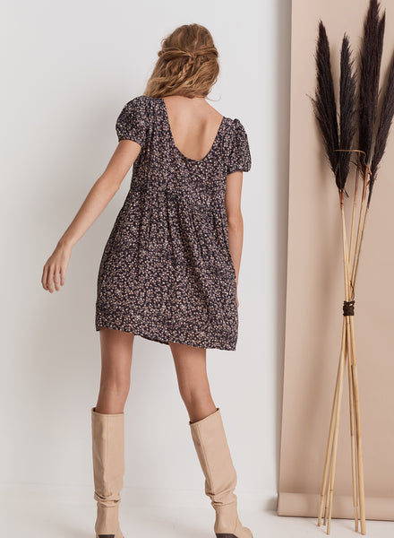 Shangri-La Mini Dress // Midnight Floral
