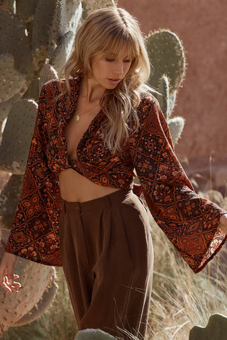 Zephyr Wrap Top // Pepper