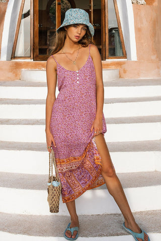 Island Slip Dress // Amethyst