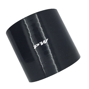 "Performance World 110045 Straight ID 3"" Silicone Black Coupler"