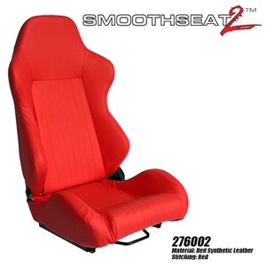 Performance World 276002 SmoothSeat2  Racing Red Synthetic Leather