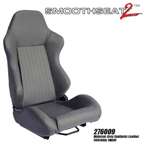 Performance World 276009 SmoothSeat2  Racing Gray Synthetic Leather