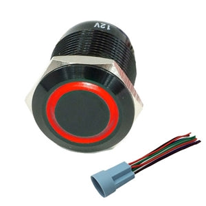 Performance World 322310 19mm Stainless Steel Switch Red LED