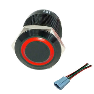 Performance World 322400 22mm Stainless Steel Switch Red LED