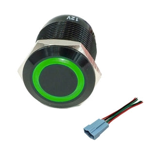 Performance World 322412 22mm Stainless Steel Switch Green LED