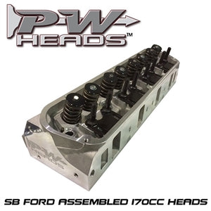 Performance World 60170A SB Ford 170cc Cylinder Heads Pair (complete)