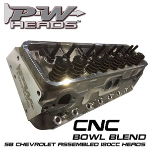 Performance World 64180-CNCA SB Chevrolet CNC Aluminum Heads (complete)