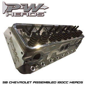 Performance World 64180A SB Chevrolet 180cc Cylinder Heads pair (complete)