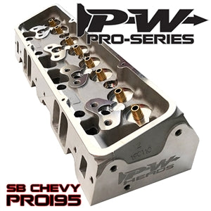 Performance World 65195 Pro-Series PRO195 SB Chevrolet 195cc Cylinder Heads pair (bare)