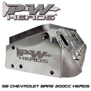 Performance World 70200 SB Chevrolet 200cc Cylinder Heads pair (bare)