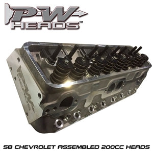 Performance World 70200A SB Chevrolet 200cc Cylinder Heads pair (complete)