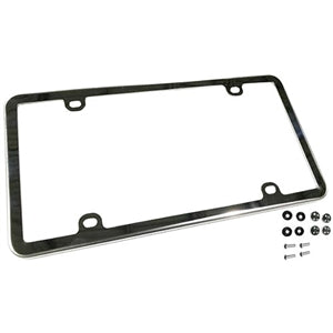 Performance World 723000 Polished T304 Stainless Steel License Plate Frame