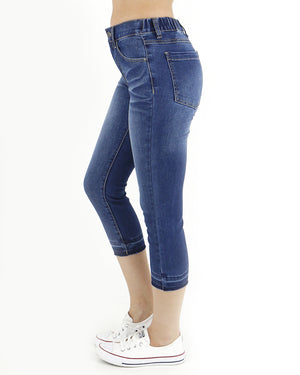 Mid Wash Cropped Jegging - Grace and Lace Wholesale -