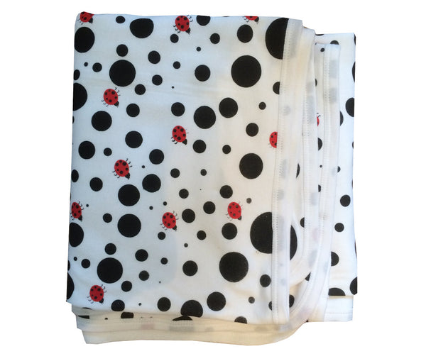 Dotty Ladybird Organic Cotton Blanket
