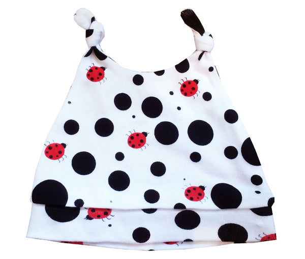 Dotty Ladybird Organic Cotton Hat