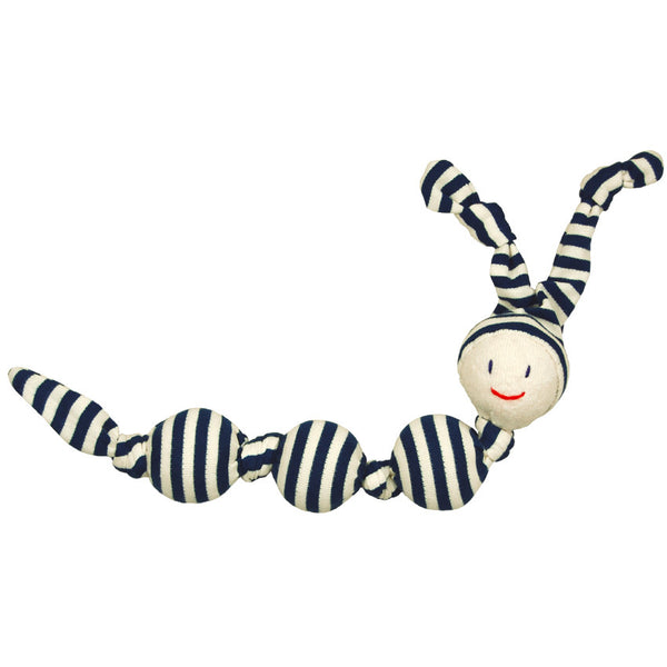 Organic Cotton Sneeky Stripey Rattle