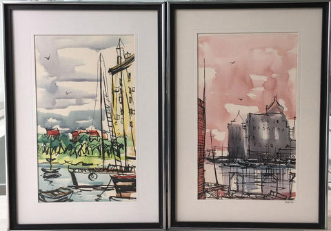Pair of Original Watercolors