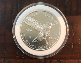 2015 Canadian 1oz Silver Red-Tailed Hawk