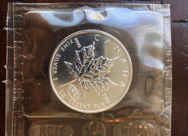 2000 Canada $5 Maple Leaf 1 oz .999 Silver Coin Firework Privy