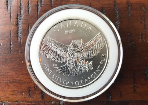 1 oz Silver Horned Owl