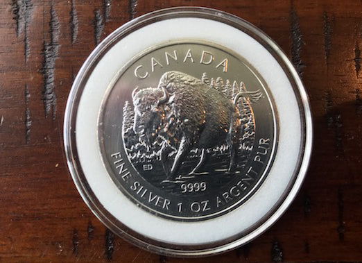 2013 1 oz .9999 Canadian Silver Wood Bison