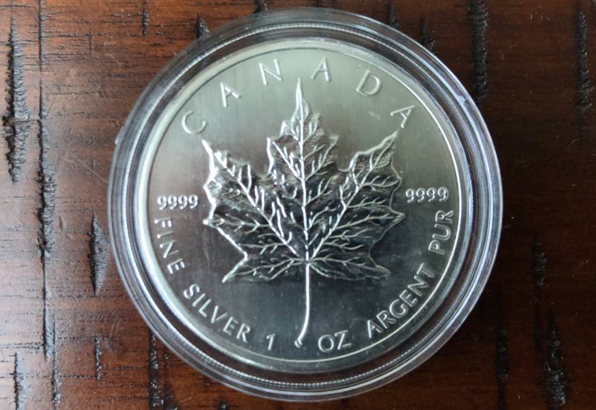 2014 1oz Silver Coin Maple Leaf