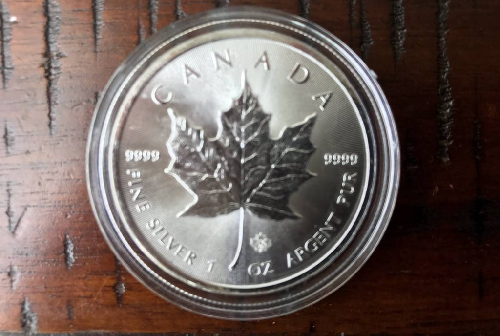 1 oz Silver .9999 Maple Leaf Coin