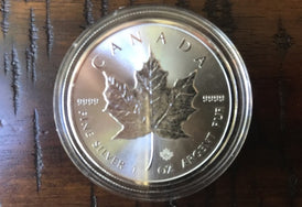 2015 Canadian Maple Leaf 1 oz .9999 Silver Coin