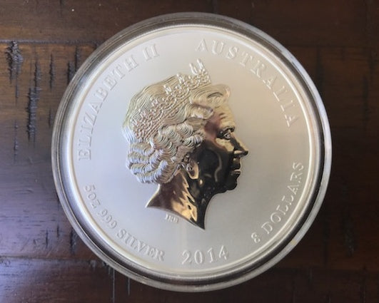 Australia 2014 Year Of The Horse 5 oz Silver