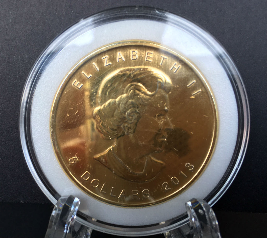 2013 1 oz Silver 24K Gold Gilded