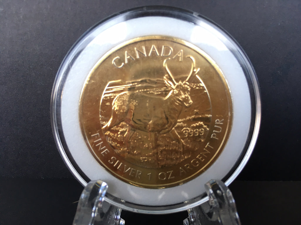 2013 1 oz Canadian Silver Pronghorn Antelope