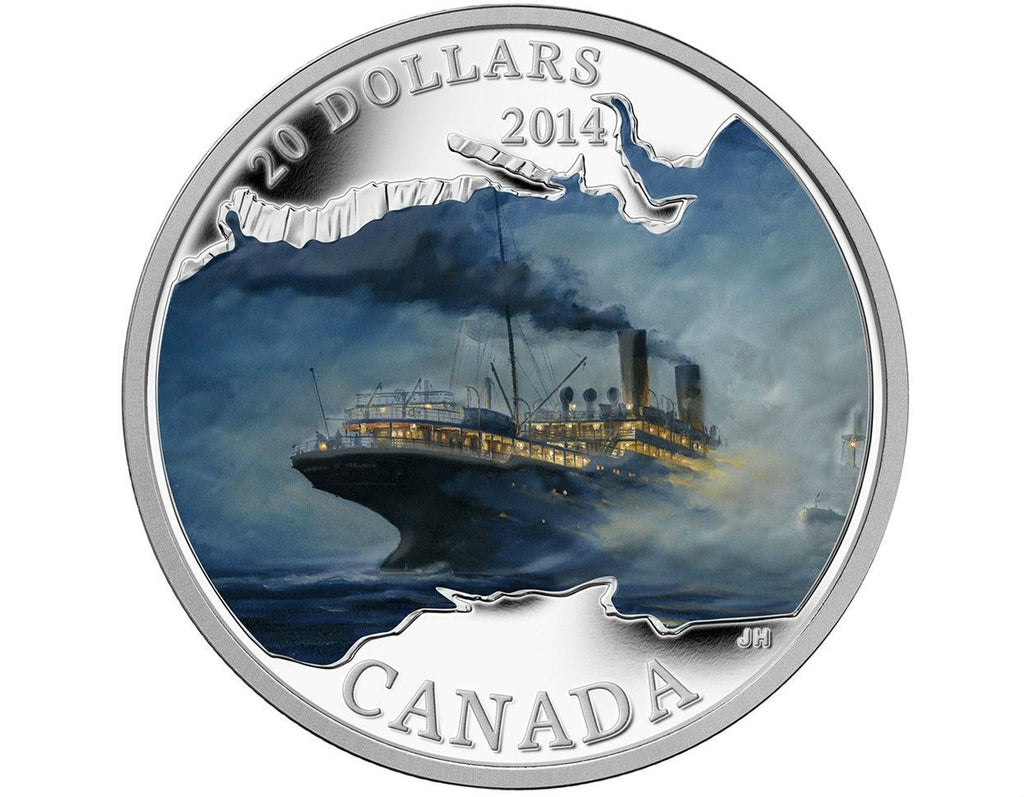 R.M.S. Empress of Ireland silver coin