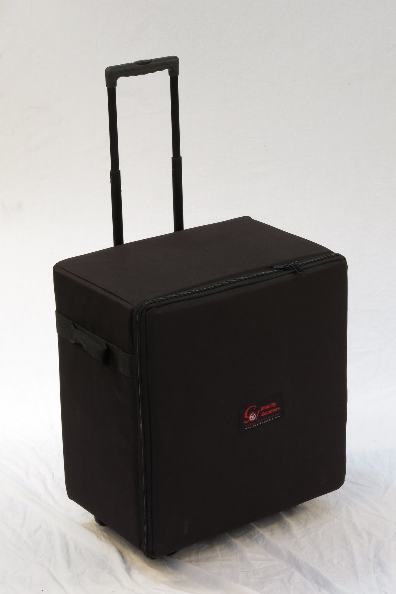 Portable GO-Anywhere Commode, Shower 'n Tub Chair (CST) wheeled travel bag with retractable handle