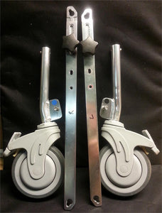 "Extra Set 5"" Casters W/ Legs & Cross-Braces (/Pr.)"