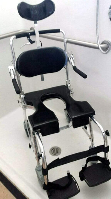 GO-ANYWHERE COMMODE 'N SHOWER CHAIR - ADJUSTABLE (CS-A)