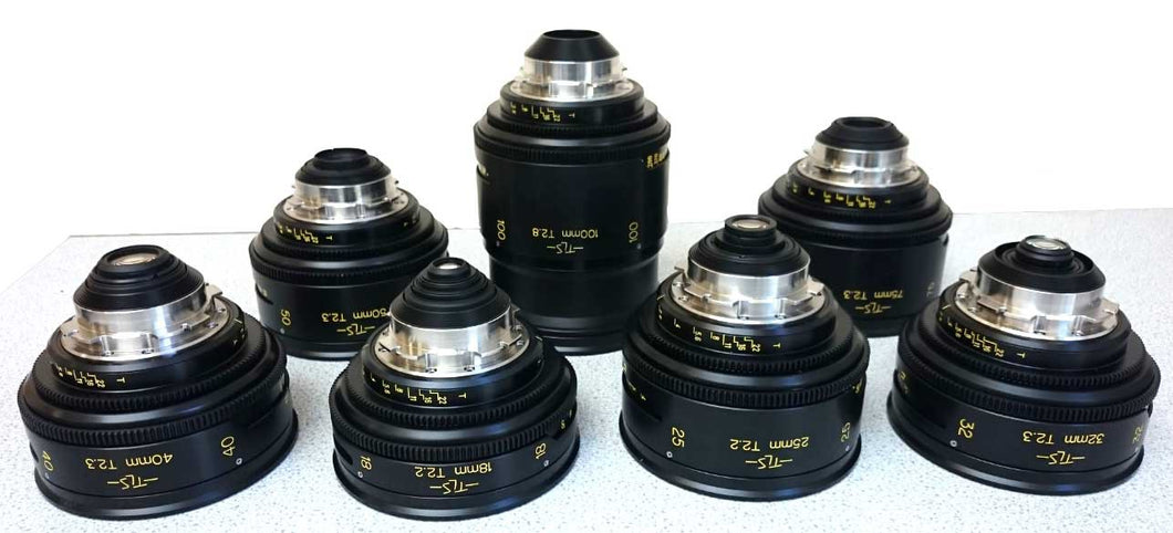 TLS Re-Housed Cooke Panchro S2/S3 Lenses 18,24,32,40,50,75,100mm