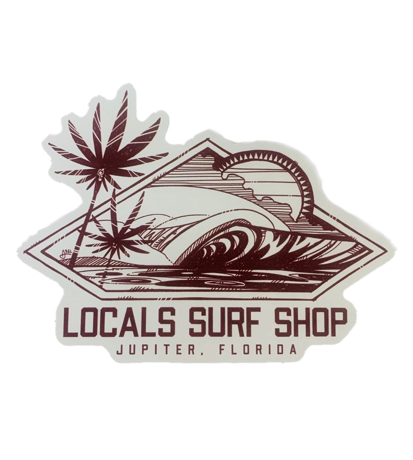 LOCALS DIAMOND PALM STICKER 4""