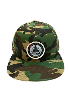 LOCALS RESPECT FLAT BILL HAT CAMO