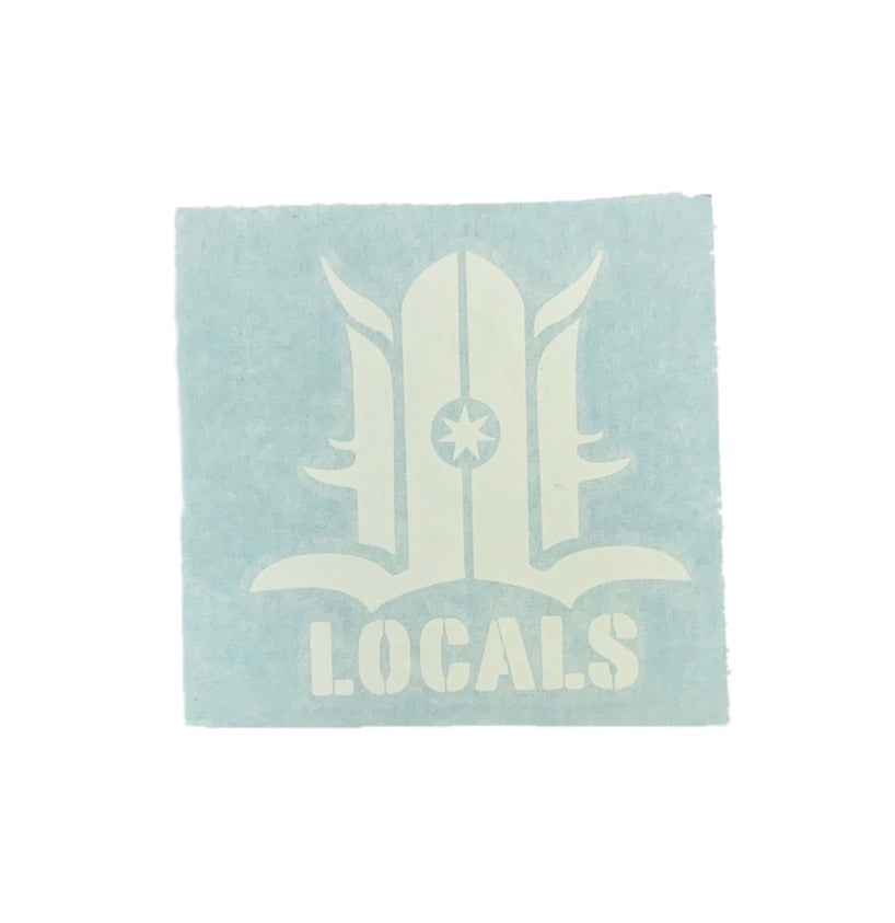 LOCALS LOGO DYE CUT STICKER 3""
