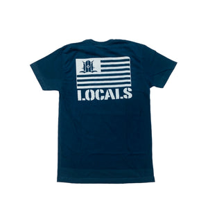 LOCALS FLAG SUEDED CREW NAVY